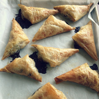 Nutella and Bananas Wrapped in Phyllo