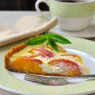 Summer Peach Custard Tart.