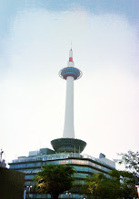 Photo: Kyoto tower in front of train station.
