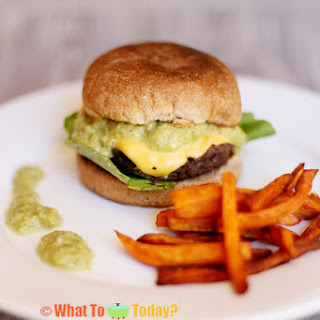 BLACK BEAN CHEESEBURGERS WITH GREEN CHILE (6 burgers)