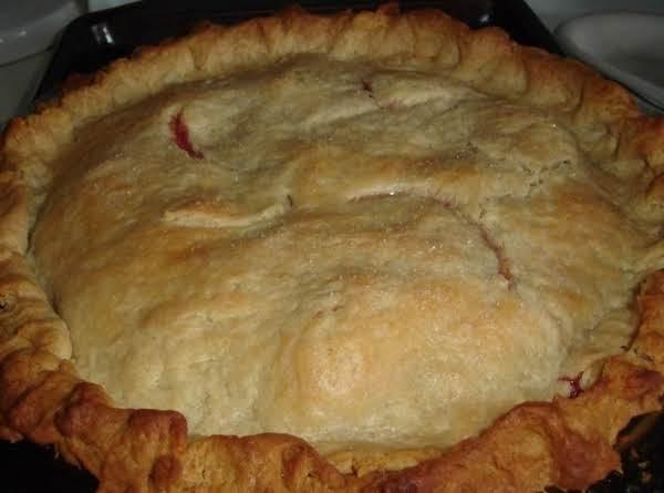 Orange Kiss Strawberry Rhubarb Pie