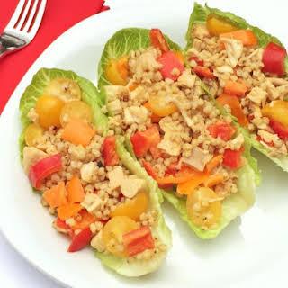 Sorghum, Chicken and Veggie Lettuce Wraps.