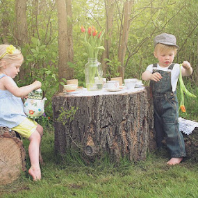 Twin Tea Party by Elizabeth Haag - Babies & Children Toddlers