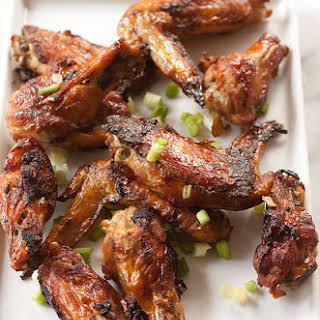 Crispy Chinese Garlic Chicken Wings.