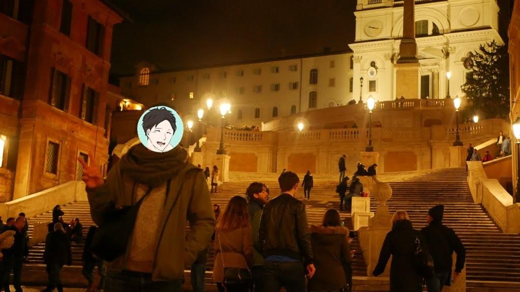 夜のスペイン広場は空いていてイイ感じ!