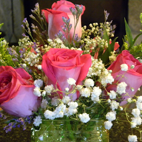 Pink Roses by Patti Westberry - Flowers Flower Arangements ( bouquet, pink roses, roses, pink, flowers,  )