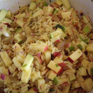 Curried Apple Orzo Salad
