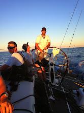 Photo: Wade Morgan at the helm