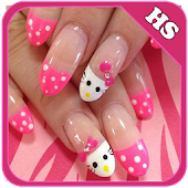 Nail Art Hello Kitty Design