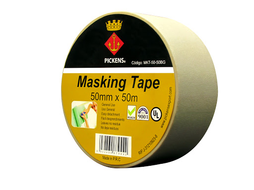 cinta de papel pickens adhesiva bg 50mt