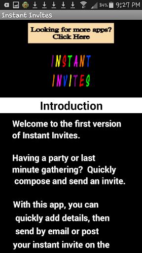 Instant Invites