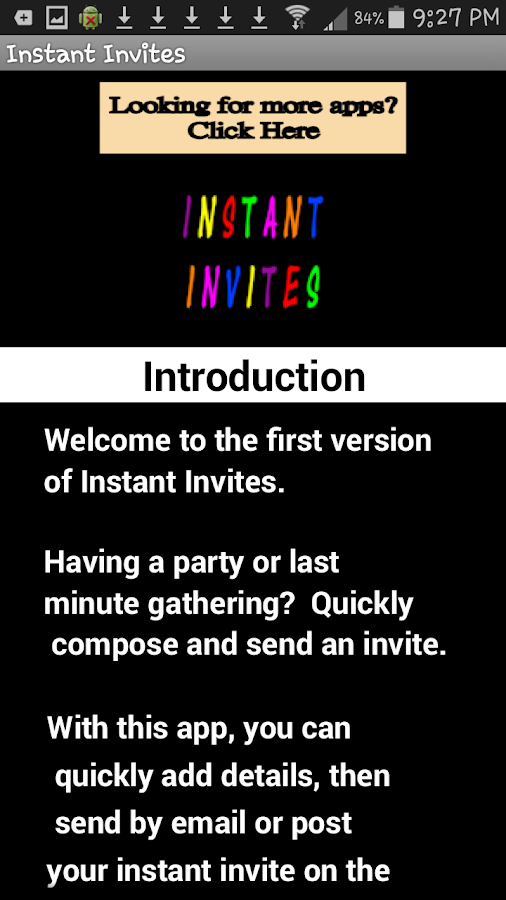 Instant Invites- screenshot