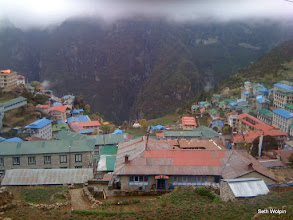 Photo: Namche all nestled in..
