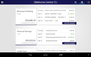 Screenshot of Oklahoma Central Credit Union