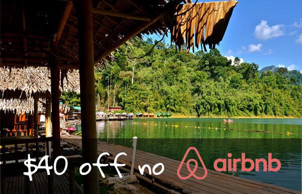 desconto de $40 no Airbnb