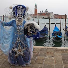 Venice Mask Ball by Wilson Beckett - City,  Street & Park  Historic Districts