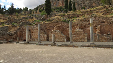 Photo: Delphi is on a hill. A pretty steep hill.