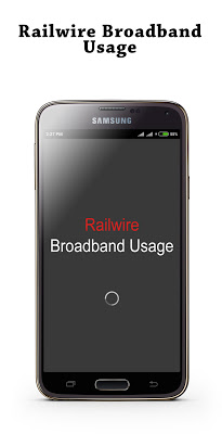 Railwire Broadband Usage - screenshot