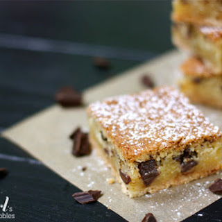 Chess Pie Bars with Dark Chocolate