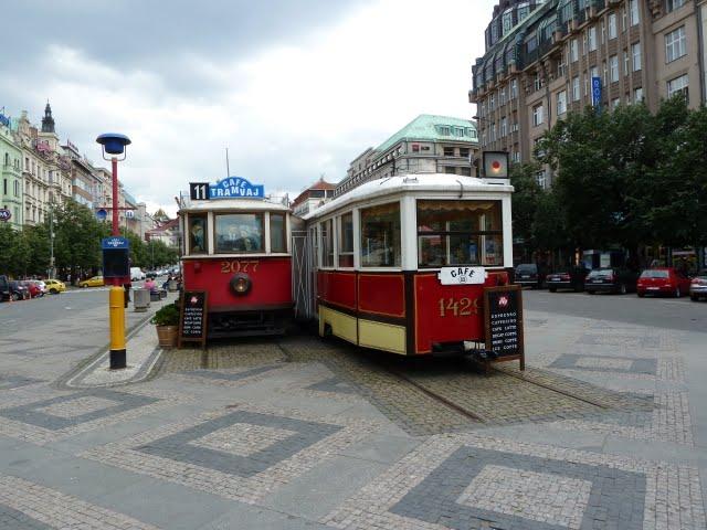 Václavák a tramvaje