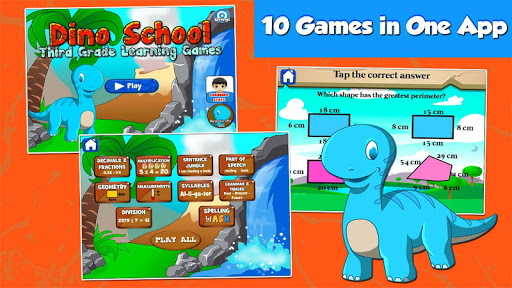 Dino Grade 3 Learning Games