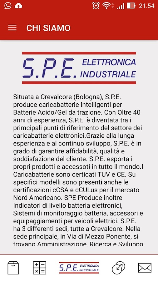SPE Elettronica Industriale- screenshot