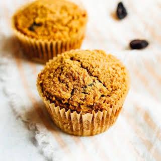 Carrot Raisin Almond Flour Muffins.