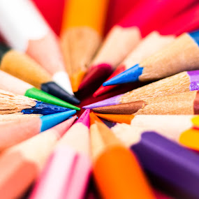 colours by Lubelter Voy - Artistic Objects Other Objects ( purple, sharp, wood, white, oranges, pencil, colour, red, blue, brown, grey, pink, black )