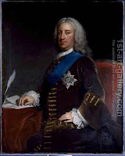 Photo: William Cavendish 3rd Duke of Devonshire, 1698-1755, by George Knapton. Following a disastrous fire in 1773, the Duke rebuilt his London home Devonshire House in the new Paladian style promoted by the architect Richard Boyle. Common ancestor of Prince Charles and Lady Di