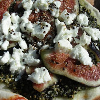 Fig and Goat Cheese Pizza With Pesto.