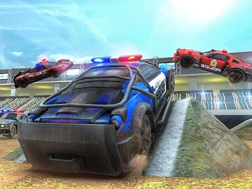 PC u7528 Demolition Derby Police Car Crash Stunts Racing 2