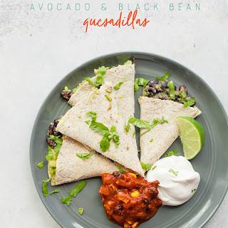 Black Bean and Avocado Quesadillas.