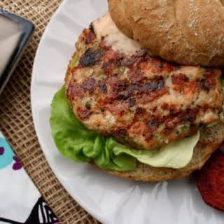 Salmon Burgers w/ Pickled Ginger & Coriander.