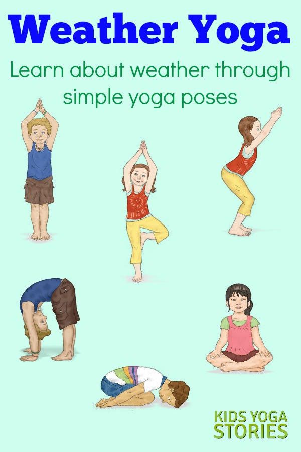 Weather Activities for Kids Yoga (Printable Poster) - Kids