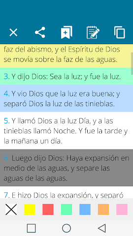 android Santa Biblia Español Screenshot 9