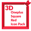 3D Square Red Icon Pack Oneplus Style APK Icon