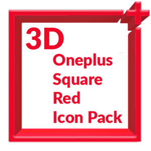 Download 3D Square Red Icon Pack Oneplus Style APK latest version app for  android devices