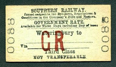 Photo: Rail Ticket from Wateringbury