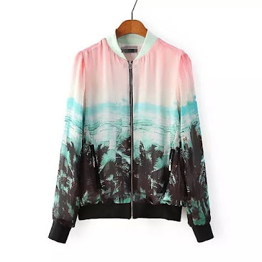 $50 ASOS baseball jacket with shadow of trees print NEW with size