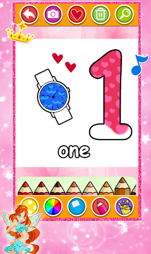 Indir Glitter Number And Letters Coloring For Kids Apk Son Surumu