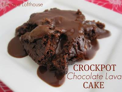 Click Here for Recipe: Crock Pot Chocolate Lava Cake Sinful, chocolatey and...