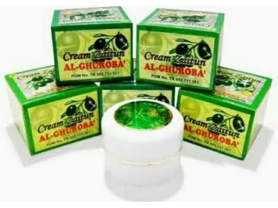 Cream Zaitun krim herbal mencerahkan wajah alami menghilangkan bekas jerawat flek hitam kulit kering