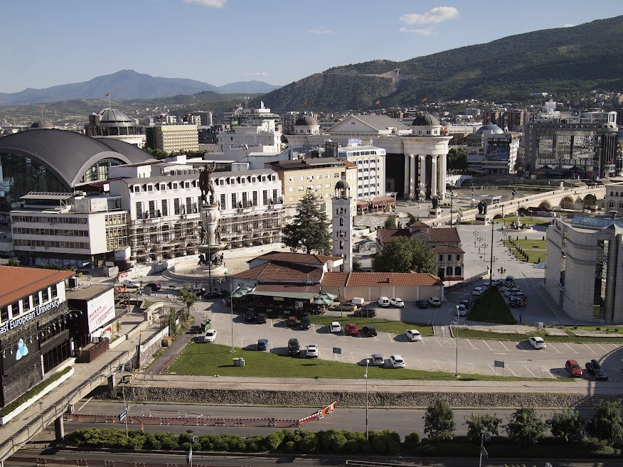 View of Skopje center from Kale Fortress