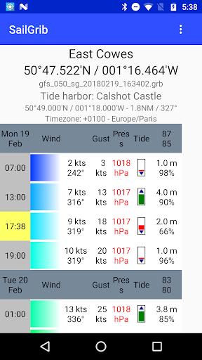 Marine Weather | SailGrib Free 2.0.1 screenshots 5