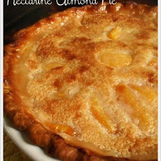 Nectarine Almond Pie.