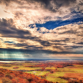 Autumn's fire by Salehin Chowdhury - Landscapes Prairies, Meadows & Fields ( nature, autumn, fall, light, colours )