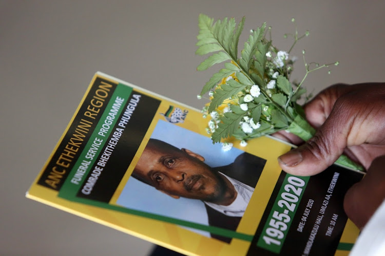 ANC eThekwini ward councillor Bhekithemba Phungula was killed in a hail of bullets by unknown assailants at his Umlazi home