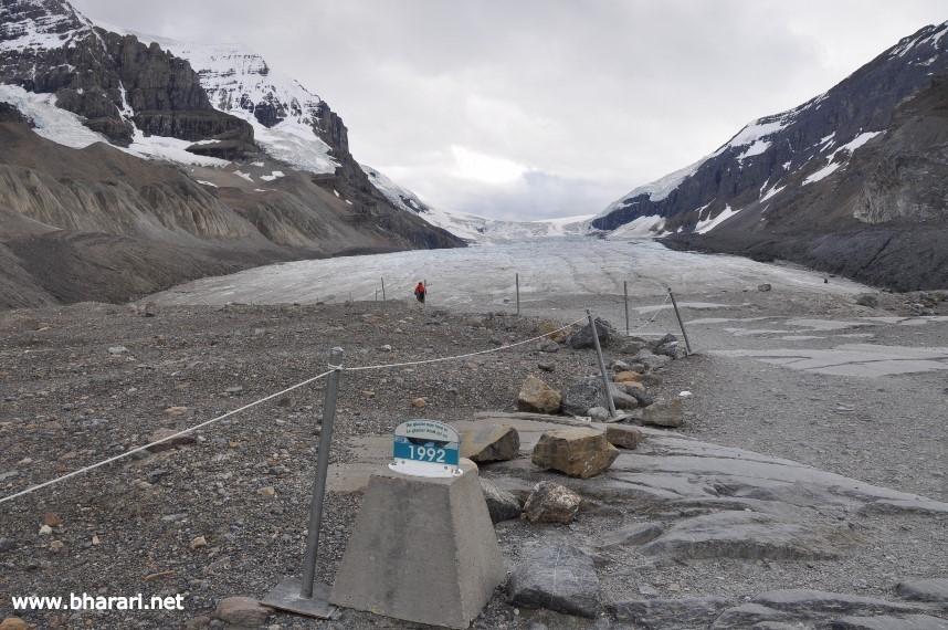 A receding glacier: Sign of Global Warming?