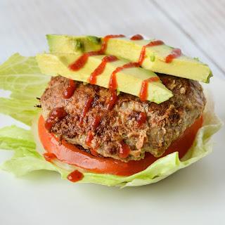 Sriracha Almond Turkey Burgers