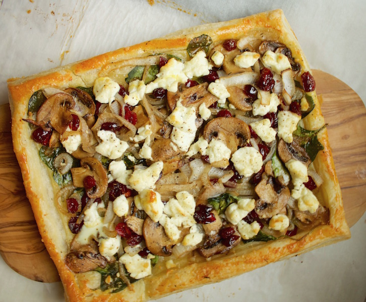 Goat Cheese & Spinach Tart (and How to Make Puff Pastry) Recipe